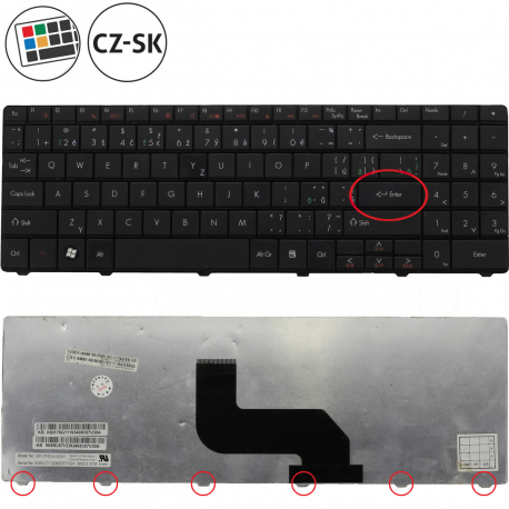 Packard Bell EasyNote TJ75 Klávesnice pro notebook - CZ / SK + zprostředkování servisu v ČR