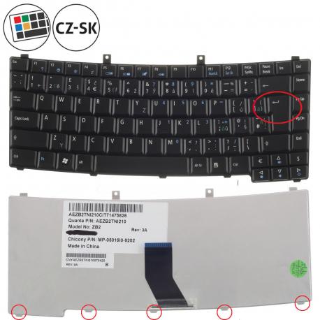 Acer Extensa 5210 Klávesnice pro notebook - CZ / SK + zprostředkování servisu v ČR