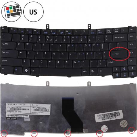 Acer TravelMate 5730 Klávesnice pro notebook - americká - US + zprostředkování servisu v ČR