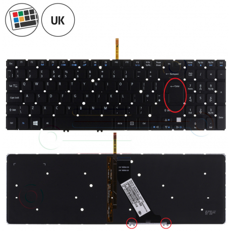Acer Aspire V5-531G Klávesnice pro notebook - anglická - UK + zprostředkování servisu v ČR