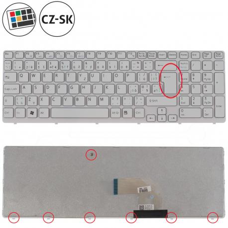 Sony Vaio SVE1512Q1EW Klávesnice pro notebook - CZ / SK + doprava zdarma + zprostředkování servisu v ČR