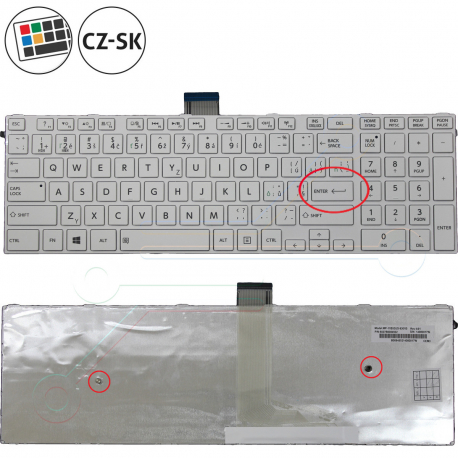 Toshiba Satellite C55-B5200 Klávesnice pro notebook - CZ / SK + doprava zdarma + zprostředkování servisu v ČR