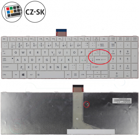 Toshiba Satellite c855-1gn Klávesnice pro notebook - CZ / SK + zprostředkování servisu v ČR