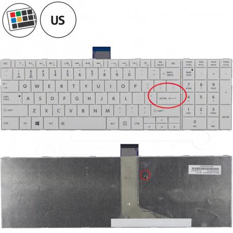 Toshiba Satellite c855-18n Klávesnice pro notebook - americká - US + zprostředkování servisu v ČR