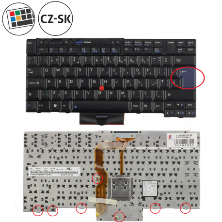 Lenovo ThinkPad W520 Klávesnice pro notebook - CZ + doprava zdarma + zprostředkování servisu v ČR
