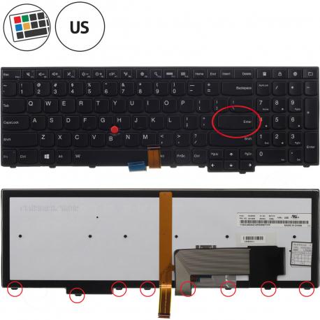 Lenovo ThinkPad W550s Klávesnice pro notebook - americká - US + doprava zdarma + zprostředkování servisu v ČR