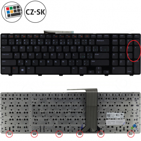 Dell Inspiron 5521 Klávesnice pro notebook - CZ / SK + zprostředkování servisu v ČR