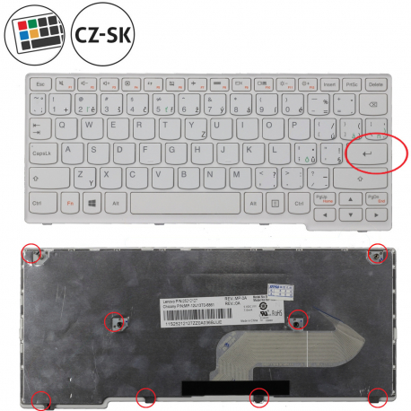 Lenovo S210T Series Klávesnice pro notebook - CZ / SK + zprostředkování servisu v ČR