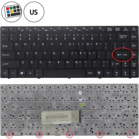 MSI X350 X-Slim Klávesnice pro notebook - americká - US + zprostředkování servisu v ČR