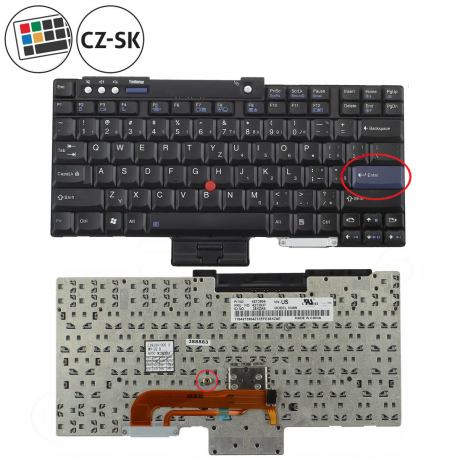 Lenovo Z61m Klávesnice pro notebook - CZ / SK + doprava zdarma + zprostředkování servisu v ČR