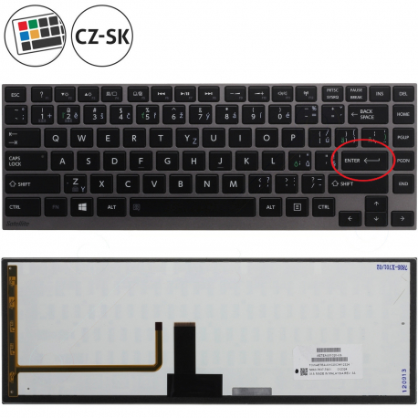 Toshiba Satellite U840W Klávesnice pro notebook - CZ / SK + zprostředkování servisu v ČR