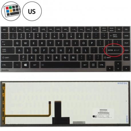 Toshiba Satellite U840W Klávesnice pro notebook - americká - US + zprostředkování servisu v ČR