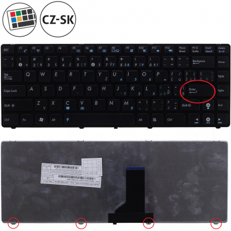 Asus K43SJ Klávesnice pro notebook - CZ / SK + doprava zdarma + zprostředkování servisu v ČR