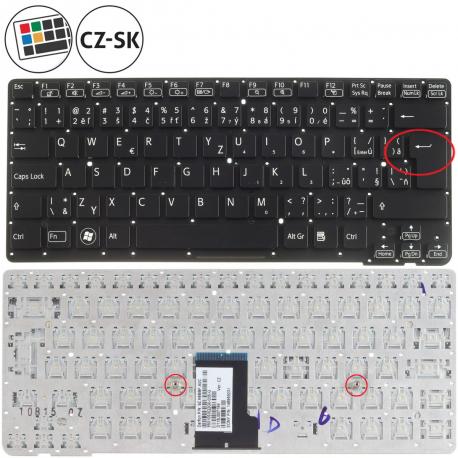 Sony Vaio VPC-CA17FX Klávesnice pro notebook - CZ / SK + zprostředkování servisu v ČR