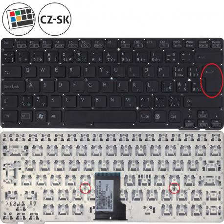 Sony Vaio VPC-CA3S1E Klávesnice pro notebook - CZ / SK + doprava zdarma + zprostředkování servisu v ČR