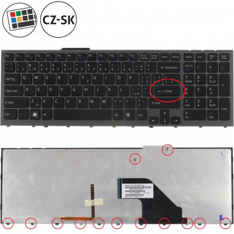 Sony Vaio VPC-F12THX Klávesnice pro notebook - CZ / SK + doprava zdarma + zprostředkování servisu v ČR