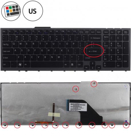 Sony Vaio VPC-F12THX Klávesnice pro notebook - americká - US + doprava zdarma + zprostředkování servisu v ČR