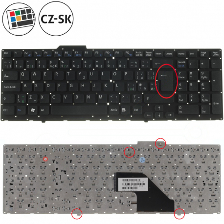 Sony Vaio VPC-F116FGBI Klávesnice pro notebook - CZ / SK + doprava zdarma + zprostředkování servisu v ČR