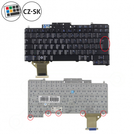 Dell Latitude D830 Klávesnice pro notebook - CZ / SK + doprava zdarma + zprostředkování servisu v ČR