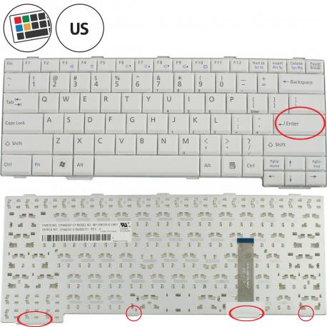 Fujitsu Siemens LIFEBOOK S760 Klávesnice pro notebook - americká - US + doprava zdarma + zprostředkování servisu v ČR