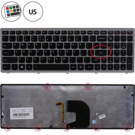 Lenovo IdeaPad Z500A Klávesnice pro notebook - americká - US + zprostředkování servisu v ČR