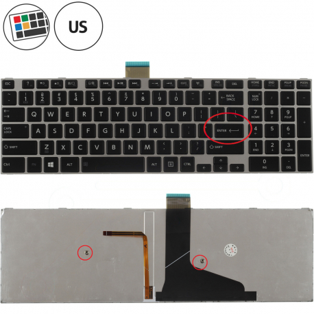 Toshiba Satellite C75 Klávesnice pro notebook - americká - US + zprostředkování servisu v ČR