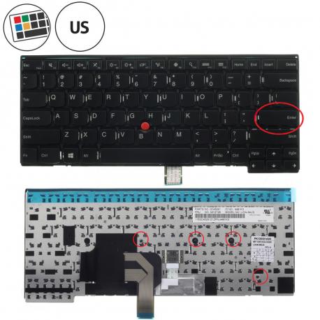 Lenovo ThinkPad Edge E450 Klávesnice pro notebook - americká - US + doprava zdarma + zprostředkování servisu v ČR