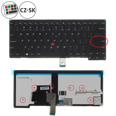Lenovo ThinkPad Edge E431 Klávesnice pro notebook - CZ / SK + doprava zdarma + zprostředkování servisu v ČR