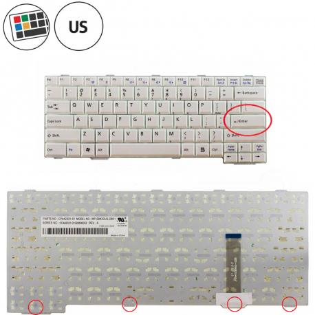 Fujitsu Siemens LIFEBOOK E751 Klávesnice pro notebook - americká - US + zprostředkování servisu v ČR