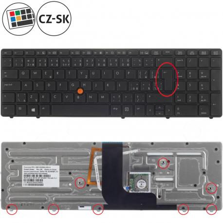 HP EliteBook 8560w Klávesnice pro notebook - CZ / SK + doprava zdarma + zprostředkování servisu v ČR