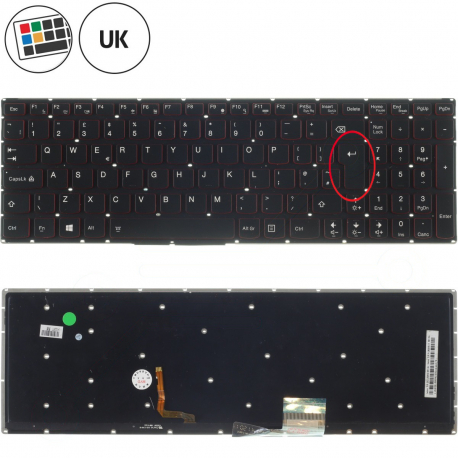 Lenovo Flex 2-15 Klávesnice pro notebook - anglická - UK + doprava zdarma + zprostředkování servisu v ČR