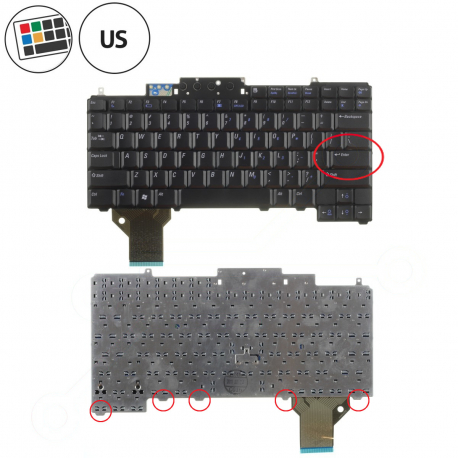 Dell Latitude D830 Klávesnice pro notebook - americká - US + zprostředkování servisu v ČR