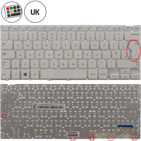 Samsung ATIV Book 9 Lite SN3730W Klávesnice pro notebook - anglická - UK + zprostředkování servisu v ČR