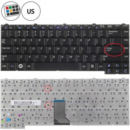 Samsung NP-R510 Klávesnice pro notebook - americká - US + zprostředkování servisu v ČR