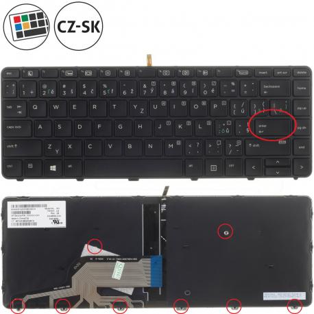 HP ProBook 440 G3 Klávesnice pro notebook - CZ + doprava zdarma + zprostředkování servisu v ČR