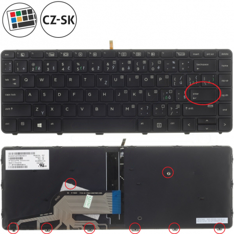 HP ProBook 440 G4 Klávesnice pro notebook - CZ + doprava zdarma + zprostředkování servisu v ČR