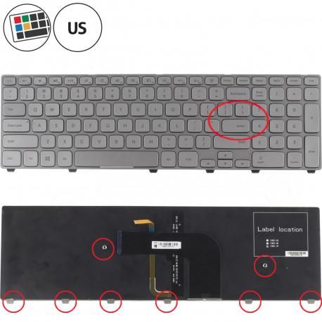 Dell Inspiron 17 7737 Klávesnice pro notebook - americká - US + zprostředkování servisu v ČR