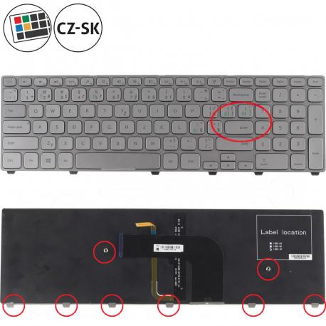 Dell Inspiron 17 7737 Klávesnice pro notebook - CZ / SK + doprava zdarma + zprostředkování servisu v ČR