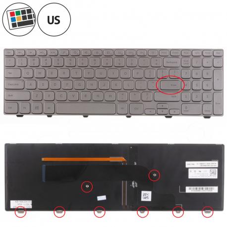 Dell Inspiron 15 7737 Klávesnice pro notebook - americká - US + zprostředkování servisu v ČR