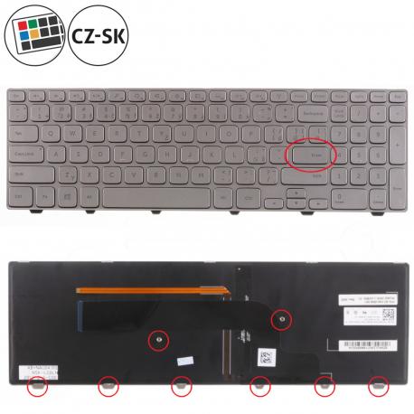 Dell Inspiron 15 7537 Klávesnice pro notebook - CZ / SK + doprava zdarma + zprostředkování servisu v ČR