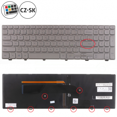 Dell Inspiron 15 7737 Klávesnice pro notebook - CZ / SK + doprava zdarma + zprostředkování servisu v ČR
