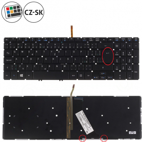 Acer Aspire V15 VN7-571 Klávesnice pro notebook - CZ + doprava zdarma + zprostředkování servisu v ČR