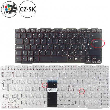 Sony Vaio SVE14A2M2R Klávesnice pro notebook - CZ / SK + doprava zdarma + zprostředkování servisu v ČR