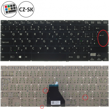 Sony Vaio SVF14A1M2E Klávesnice pro notebook - CZ / SK + doprava zdarma + zprostředkování servisu v ČR
