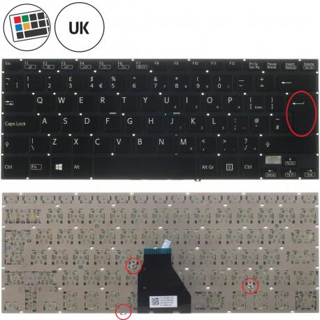 Sony Vaio SVF14A1C001S Klávesnice pro notebook - anglická - UK + zprostředkování servisu v ČR
