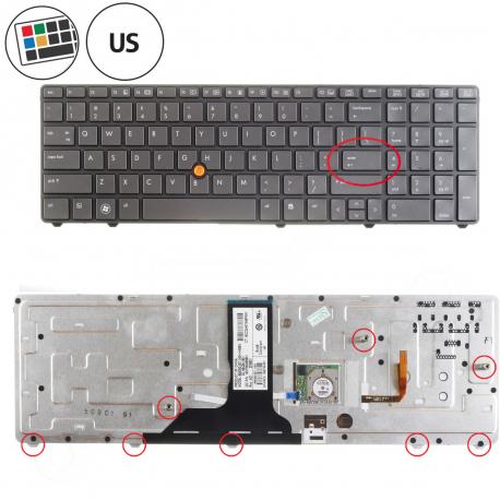 HP EliteBook 8760w Klávesnice pro notebook - americká - US + doprava zdarma + zprostředkování servisu v ČR