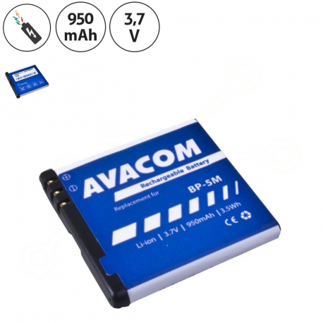 Nokia e51 Baterie pro mobilní telefon - 950mAh + zprostředkování servisu v ČR
