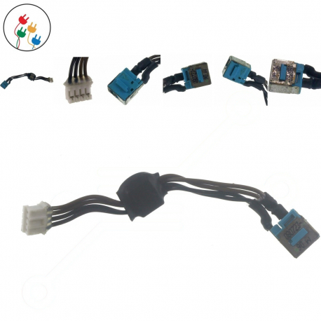 Acer Aspire 7540 Napájecí konektor - dc jack pro notebook - délka 8 cm 4 piny s připojovacím kabelem kov + zprostředkování servisu v ČR