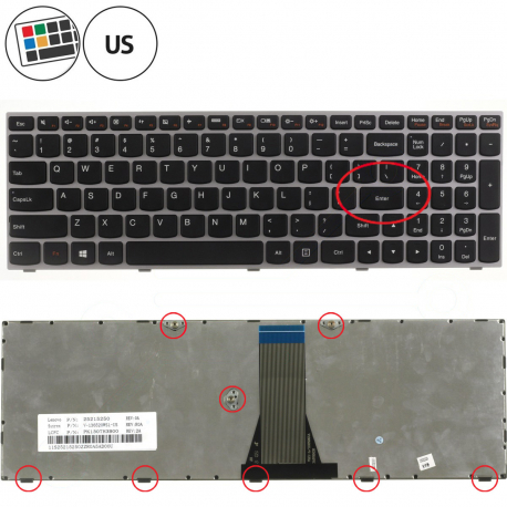 Lenovo B50-45 Klávesnice pro notebook - americká - US + zprostředkování servisu v ČR