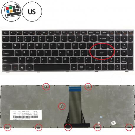 Lenovo B50-30 Touch Klávesnice pro notebook - americká - US + zprostředkování servisu v ČR